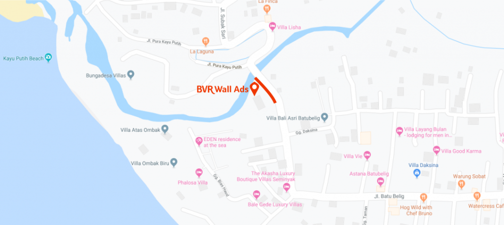 BVR Advertising Wall Ads Map
