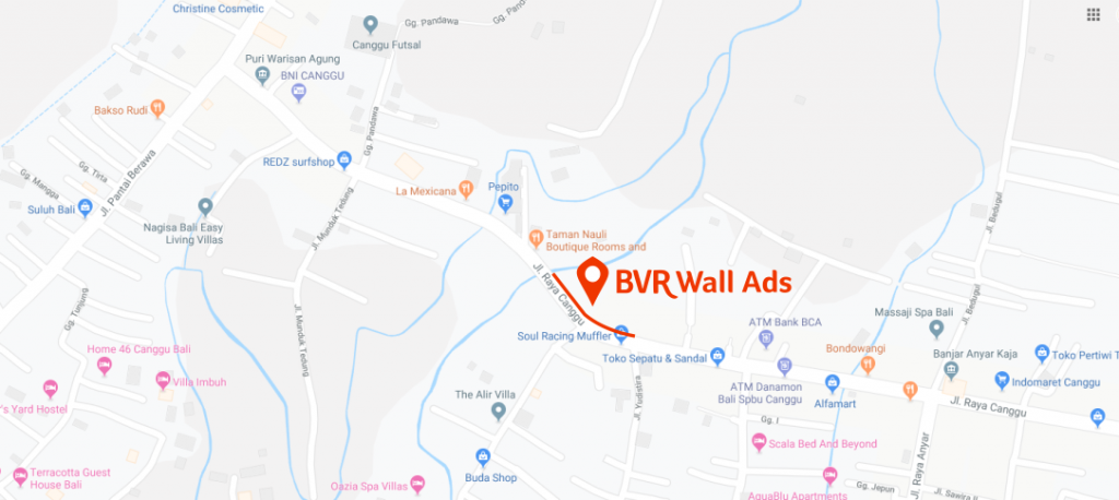 BVR Advertising Wall Map